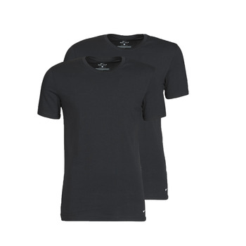 Textiel Heren T-shirts korte mouwen Nike EVERYDAY COTTON STRETCH Zwart