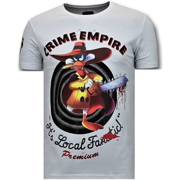 Textiel Heren T-shirts korte mouwen Local Fanatic Luxe Crime Empire Wit
