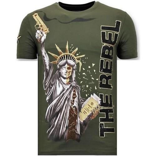 Textiel Heren T-shirts korte mouwen Local Fanatic Rhinestone The Rebel Groen