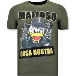 Textiel Heren T-shirts korte mouwen Local Fanatic Luxe Cosa Nostra Mafioso Groen