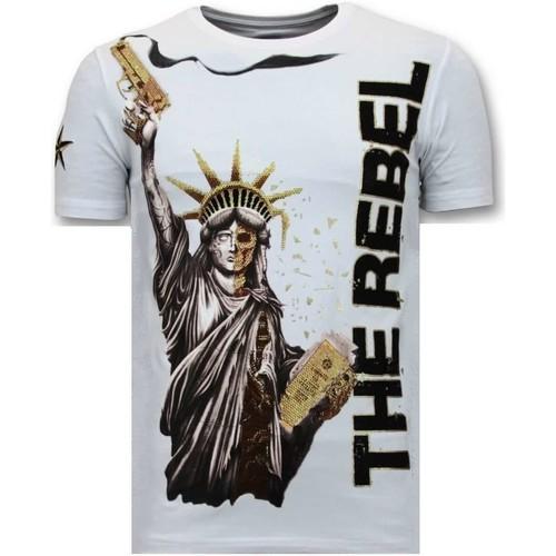 Textiel Heren T-shirts korte mouwen Local Fanatic The Rebel Wit