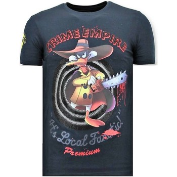Textiel Heren T-shirts korte mouwen Local Fanatic T-shirt - Crime Empire - Blauw
