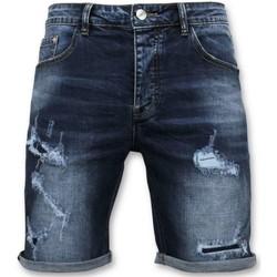 Textiel Heren Korte broeken / Bermuda's Enos Korte Broek - Jeans Short - 9082 - Blauw