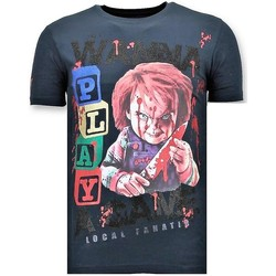 Textiel Heren T-shirts korte mouwen Local Fanatic Luxe Chucky Childs Play Blauw