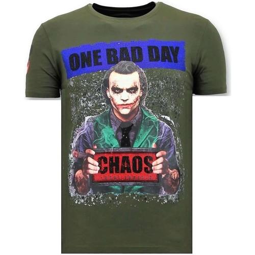 Textiel Heren T-shirts korte mouwen Local Fanatic The Joker Man Groen
