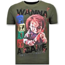 Textiel Heren T-shirts korte mouwen Lf Stoere Chucky Childs Play Groen
