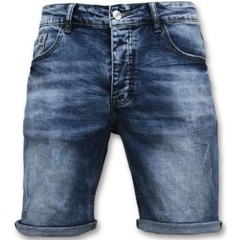 Textiel Heren Korte broeken / Bermuda's Enos Korte Broek - Short - 9088 - Blauw