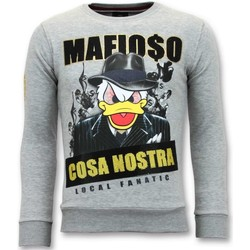 Textiel Heren Sweaters / Sweatshirts Local Fanatic Sweater - Cosa Nostra Mafioso - Grijs