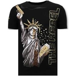 Textiel Heren T-shirts korte mouwen Local Fanatic Luxe T-Shirt - The Rebel - Zwart