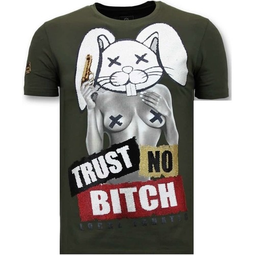 Textiel Heren T-shirts korte mouwen Local Fanatic Luxe Trust No Bitch Groen