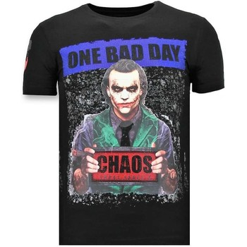 Textiel Heren T-shirts korte mouwen Local Fanatic Luxe The Joker Man Zwart