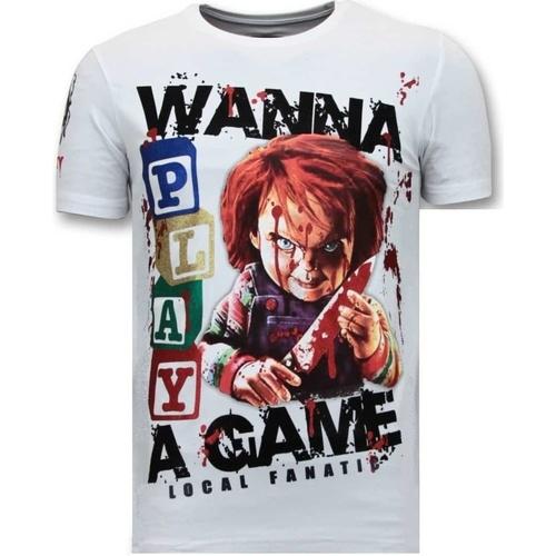 Textiel Heren T-shirts korte mouwen Local Fanatic Chucky Childs Play Wit