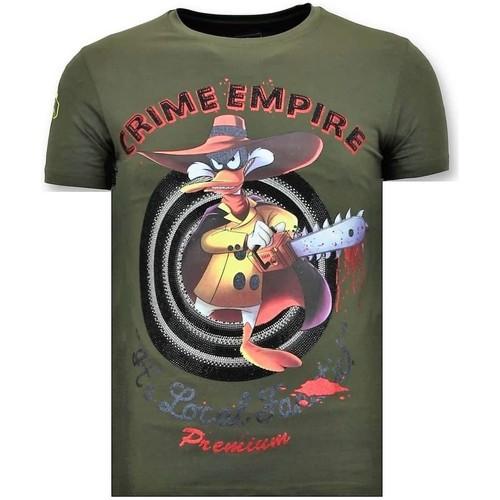 Textiel Heren T-shirts korte mouwen Local Fanatic Stoere Crime Empire Groen
