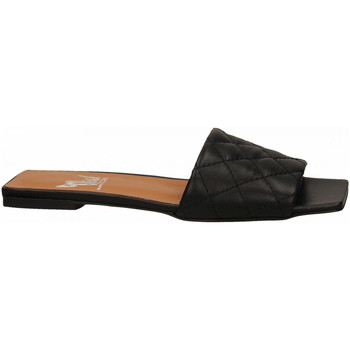 Schoenen Dames Leren slippers Mivida CHIFFON nero