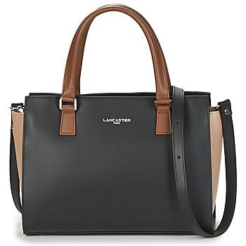 Tassen Dames Handtassen kort hengsel LANCASTER CONSTANCE Zwart / Beige / Camel