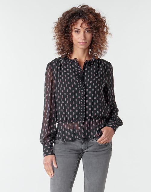 Textiel Dames Tops / Blousjes Pepe jeans NORA Zwart