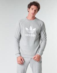 Textiel Heren Sweaters / Sweatshirts adidas Originals TREFOIL CREW Bruyère / Grijs