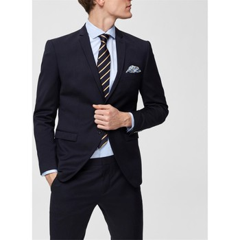 Textiel Heren Jasjes / Blazers Selected 16066442 Blu