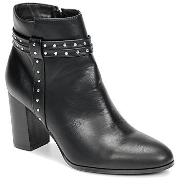 Schoenen Dames Enkellaarzen Moony Mood NINOU Zwart