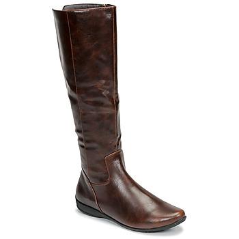 Schoenen Dames Hoge laarzen Moony Mood GURLEN Bruin