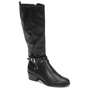 Schoenen Dames Hoge laarzen Moony Mood NELLE Zwart