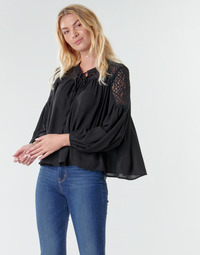 Textiel Dames Tops / Blousjes Molly Bracken R1521H20 Zwart