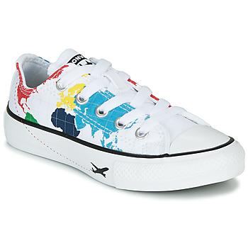Schoenen Kinderen Lage sneakers Converse CHUCK TAYLOR ALL STAR - OX Wit / Multi