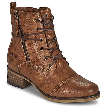 Schoenen Dames Laarzen Mustang 1229508 Cognac