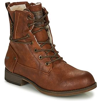 Schoenen Dames Laarzen Mustang 1139630 Cognac