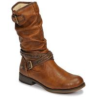 Schoenen Dames Hoge laarzen Mustang 1139624 Cognac