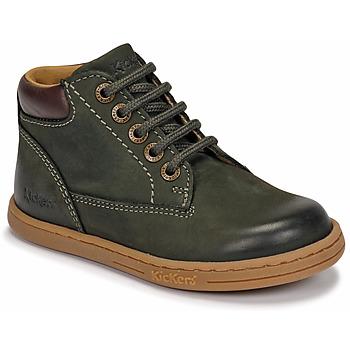 Schoenen Jongens Laarzen Kickers TACKLAND Kaki