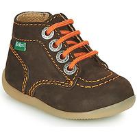 Schoenen Jongens Laarzen Kickers BONZIP-2 Bruin / Oranje