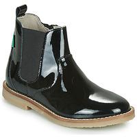 Schoenen Meisjes Laarzen Kickers TYPIK Zwart / Lak
