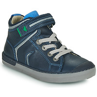 Schoenen Jongens Hoge sneakers Kickers IRELAS Marine / Blauw