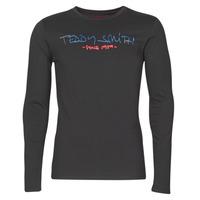 Textiel Heren T-shirts met lange mouwen Teddy Smith TICLASS BASIC M Zwart