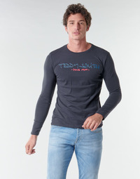 Textiel Heren T-shirts met lange mouwen Teddy Smith TICLASS BASIC M Marine