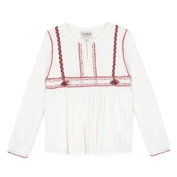 Textiel Meisjes Tops / Blousjes Chipie 8R12014-19 Wit