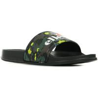 Schoenen Dames slippers Ellesse Duke Camo Fluo Black Wm Zwart
