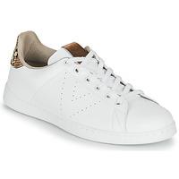 Schoenen Dames Lage sneakers Victoria TENIS PIEL VEG Wit / Bruin