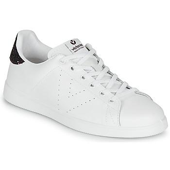 Schoenen Dames Lage sneakers Victoria TENIS PIEL Wit / Bordeau