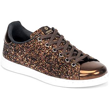 Schoenen Dames Lage sneakers Victoria TENIS GLITTER Brons