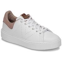Schoenen Dames Lage sneakers Victoria UTOPÍA PIEL VEG Wit / Roze