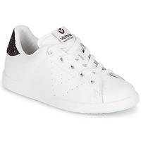 Schoenen Meisjes Lage sneakers Victoria TENIS PIEL Wit / Bordeau