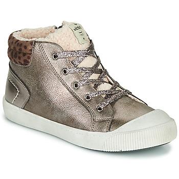 Schoenen Meisjes Hoge sneakers Victoria HUELLAS METAL Zilver