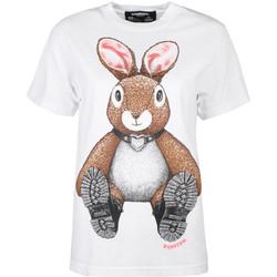 Textiel Dames T-shirts korte mouwen Domrebel  Wit