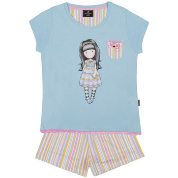 Textiel Meisjes Pyjama's / nachthemden Admas Pyjama shorts t-shirt en All Things Nice Santoro blue Blauw