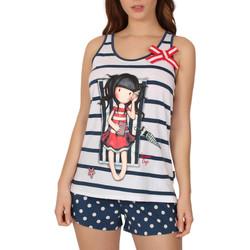 Textiel Dames Pyjama's / nachthemden Admas Pajamas tank top korte zomerdagen Santoro Blauw Marine