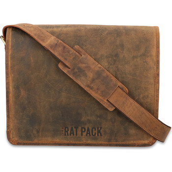 Tassen Heren Computertassen Rat Pack By Orange Fire Fire Leren Messenger 13 inch Rat Pack OF 554/13 Bruin