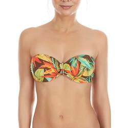 Textiel Dames Bikinibroekjes- en tops Selmark Vogel van het Paradijs  Mare Bandeau Zwempak Top Donkergroen
