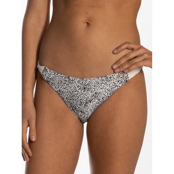 Textiel Dames Bikinibroekjes- en tops Beachlife Sprinkles  gedraaide zwempakkousen Parelmoer Zwart-wit